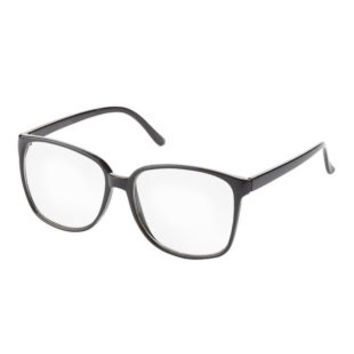 Oversized Plastic Glasses by Charlotte Russe - Black