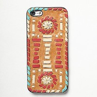 Womens Leather iPhone Case - Multi iPhone 5
