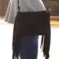 How About Some Fringe Purse: Black