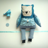 Brithany -   Little  Owl, soft art toy by Wassupbrothers