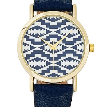 Aztec Leather Watch