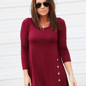 Cedar Creek Tunic - Burgundy