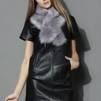 My Chic Faux Leather Shift Dress in Black