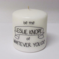 Leslie Knope Candle