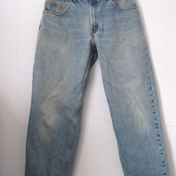 """Vintage Levi's 560 Loose Fit Tapered Leg Blue Jeans 31"""" USA 32X34"""