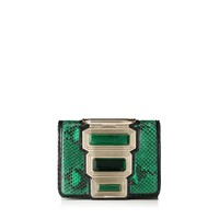 Emerald Python with Stone Embellishment Clutch Bag | Ava | Cruise 15 Vices | JIMMY CHOO Vices