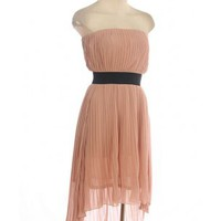 The Dating Scene Dusty Rose Strapless Dress