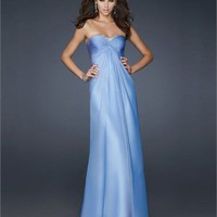 Floor Length A-line Strapless Sweetheart with Beadings Chiffon Prom Dress PD2163 Dresses UK