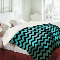 DENY Designs Home Accessories | Madart Inc. Black Chevron Romantic Evening Duvet Cover