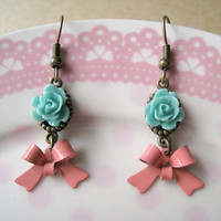 Bow Earrings (Rose Earrings)