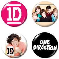 One Direction Harry Styles Pinbacks - Set of 4