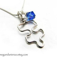 Autism Awareness Pendant, Mothers Necklace