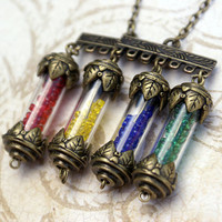 Harry Potter Hogwarts House Points Necklace