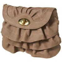 Dusty Pink Frill Twist Lock Bag - Bags & Purses - Accessories - Topshop