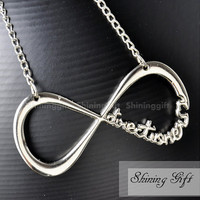One Direction Necklace Directioner Infinity Necklace, INFINITY FOREVER DIRECTIONER
