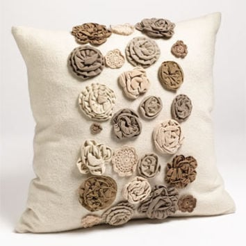 Mina Victory Mixed Flower Pillow | Nordstrom
