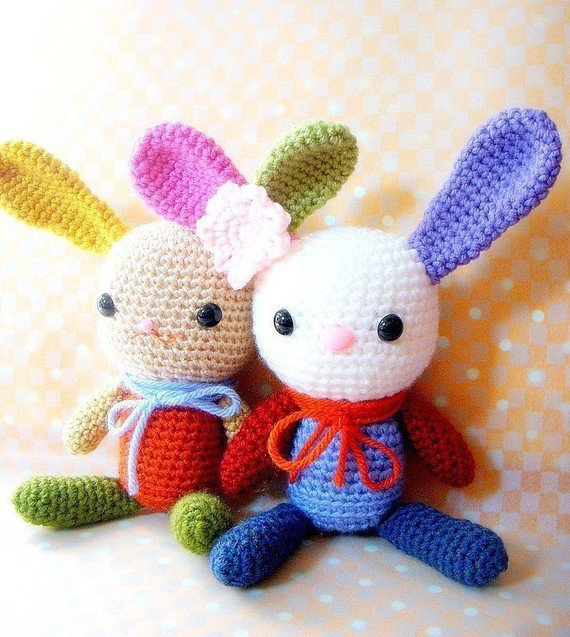 Amigurumi bunny pattern - Rainbow Bunny - from TGLDdoll on ...
