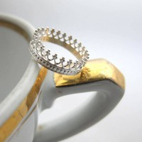 Supermarket: Tea time silver ring from : LUNATICART :