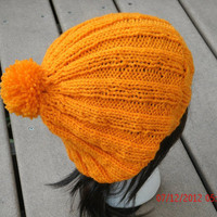 Hand Knit Hat - 3x3 Hat - Women's Slouchy Hat - Fall, Winter Accessories - Womens Fashions