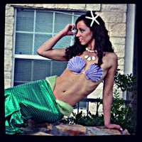 Ariel The Little Mermaid Shell Bra Top Halloween Costume