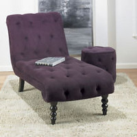 NEW Avenue Six PURPLE Velvet Fabric Chaise Lounge Chair | eBay