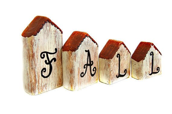 "Set of Mini Houses For ""Fall"""