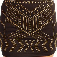 studded-mini-skirt BLACKGOLD - GoJane.com