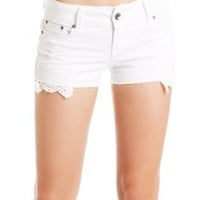 Amazon.com: 2B Lace Pocket Short 2b Denim White-28: Clothing