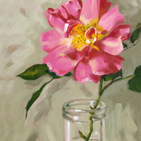 Rose Painting, Floral Giclee On Can.. on Luulla