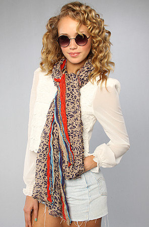 The Cheetah Borders Scarf