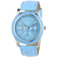 "Breda Women's 7210-blue ""Emmaline"" Classic Blue Bezel Leather Watch - designer shoes, handbags, jewelry, watches, and fashion accessories 
