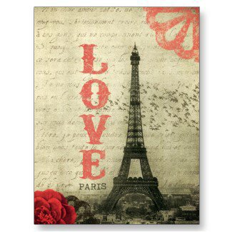 Vintage Paris Post Card from Zazzle.com
