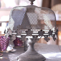 Decorative Country Living ~ Zinc and glass cake stand