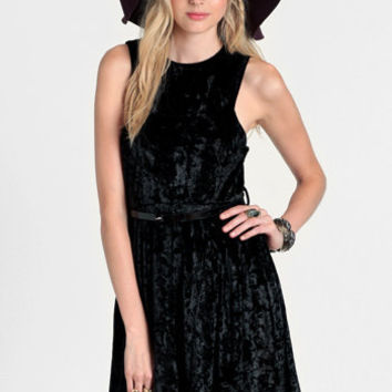 Velvet Crush Belted Dress - $42.00: ThreadSence, Women's Indie & Bohemian Clothing, Dresses, & Accessories