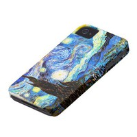 Van Gogh Starry Night Iphone 4 Case from Zazzle.com