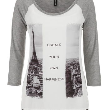 """create your own happiness"" graphic tee"