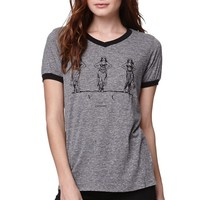 RVCA Hip Exercise T-Shirt - Womens Tee - Grey