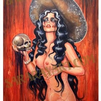"Malicious Day of the dead pin up tattoo 11"" x 17"" Poster"