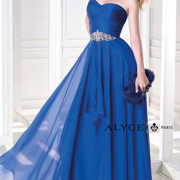Full Length Strapless Prom Dress by Alyce