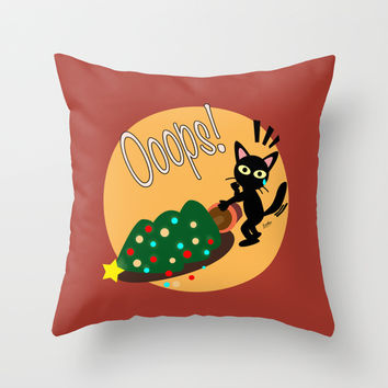Tragedy at Xmas Day Throw Pillow by BATKEI