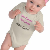 A Really Cute Baby T 50% Mommy 50% Daddy Shirts from Zazzle.com