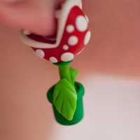  Nintendo Mario YOUCH Piranha Plant Earrings