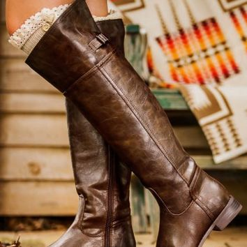Wild Horses Riding Boots-Chocolate