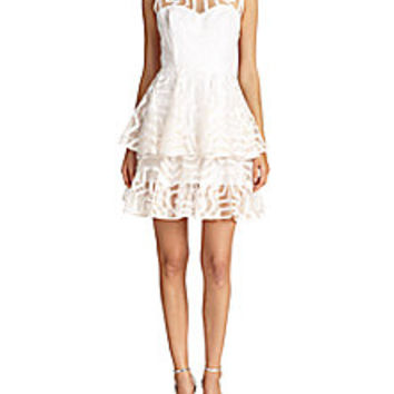 MILLY - Clara Aztec Tiered Dress - Saks Fifth Avenue Mobile