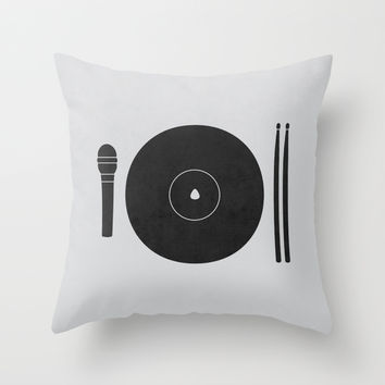 hungry to rock Throw Pillow by Jerbing