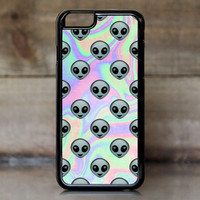 Tie Dye Alien Emoji Case for Apple iPhone 6