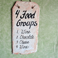 Food Groups for wine chocolate and cheese