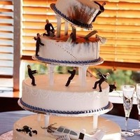 James Bond-inspired Wedding Cake
