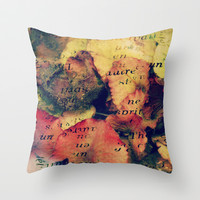 Waterlily Leaves - JUSTART © Throw Pillow by JUSTART  * Syl *