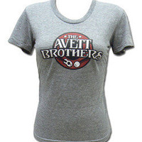 The Avett Brothers Merchandise Store  - The Avett Brothers  Girl&#x27;s Shirts  Girl&#x27;s Tri-Blend Guitar Banjo T-shirt